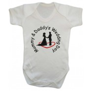 Mummy & Daddy's Wedding Day Baby Vest