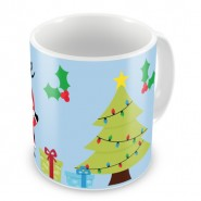 Christmas Fireplace Santa Any Name Mug