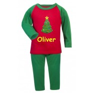 Christmas Tree Any Name Embroidered Pyjamas