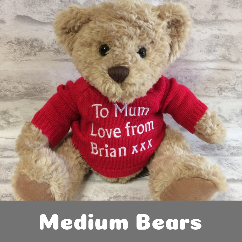 Personalised Printed Medium Teddy Bears