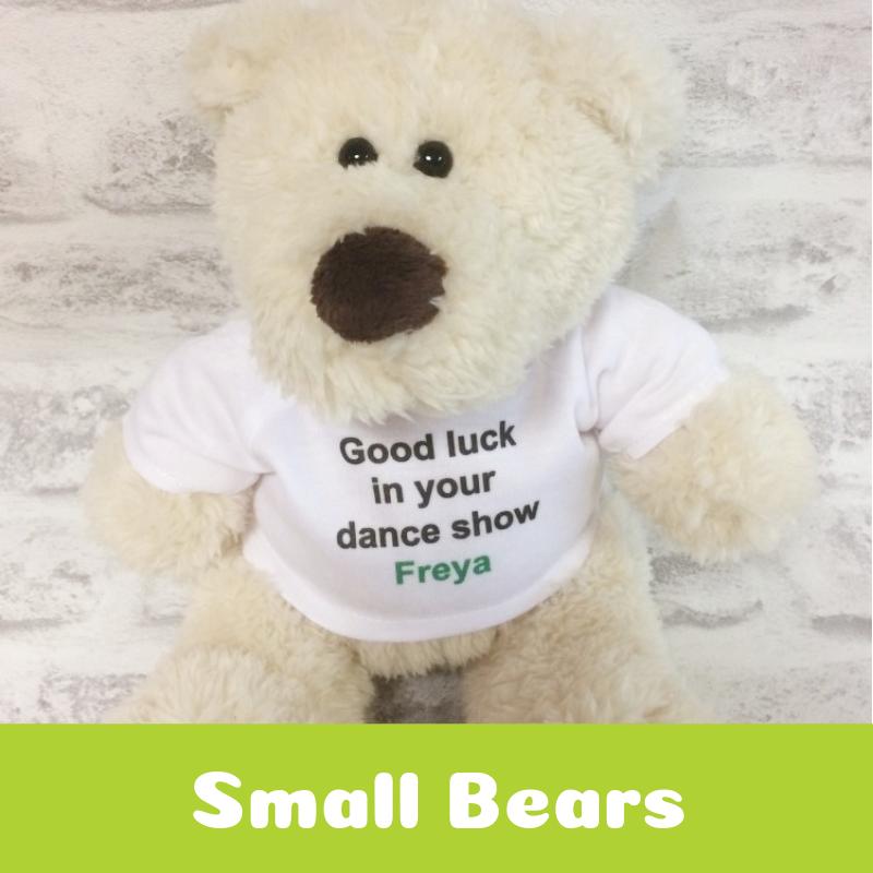 Personalised Printed Small Teddy Bears