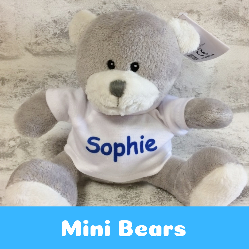 Personalised Printed Mini Teddy Bears