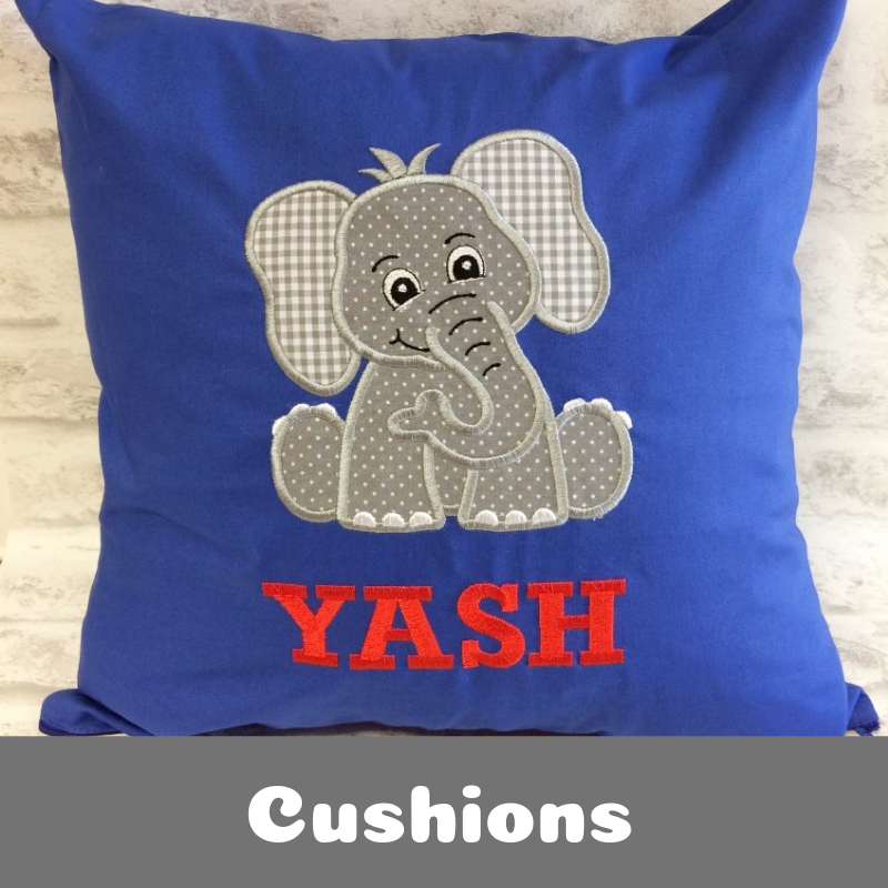 Personalised Printed and Embroidered Cushions for Children