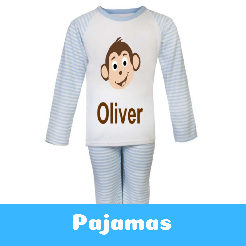 Personalised Printed and Embroidered Pyjamas for Children