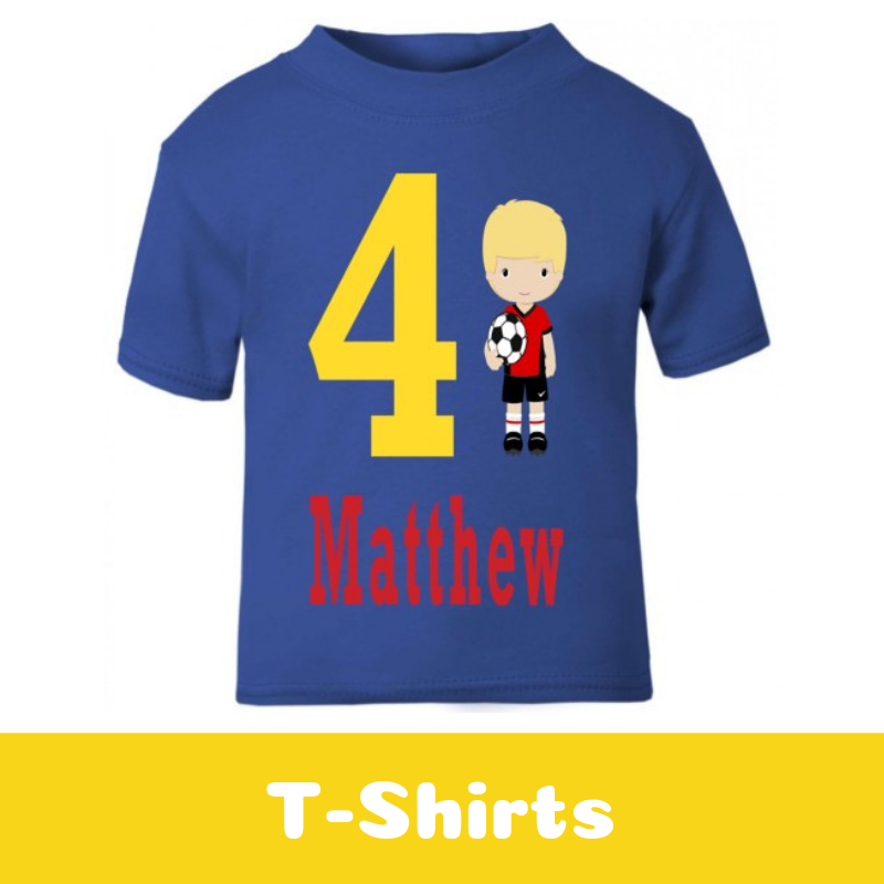 Personalised Kids Printed T-shirts