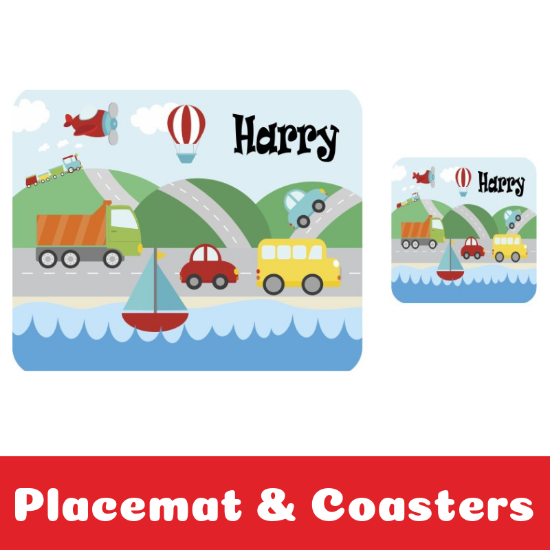 Personalised Placemats and Coasters for Kids
