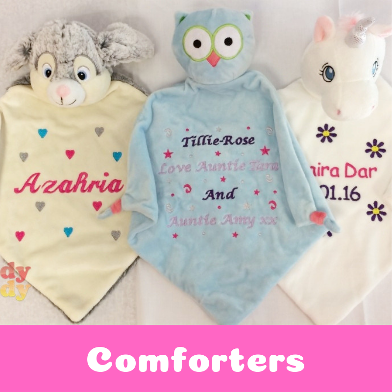 Personalised Baby Comfort Blankets