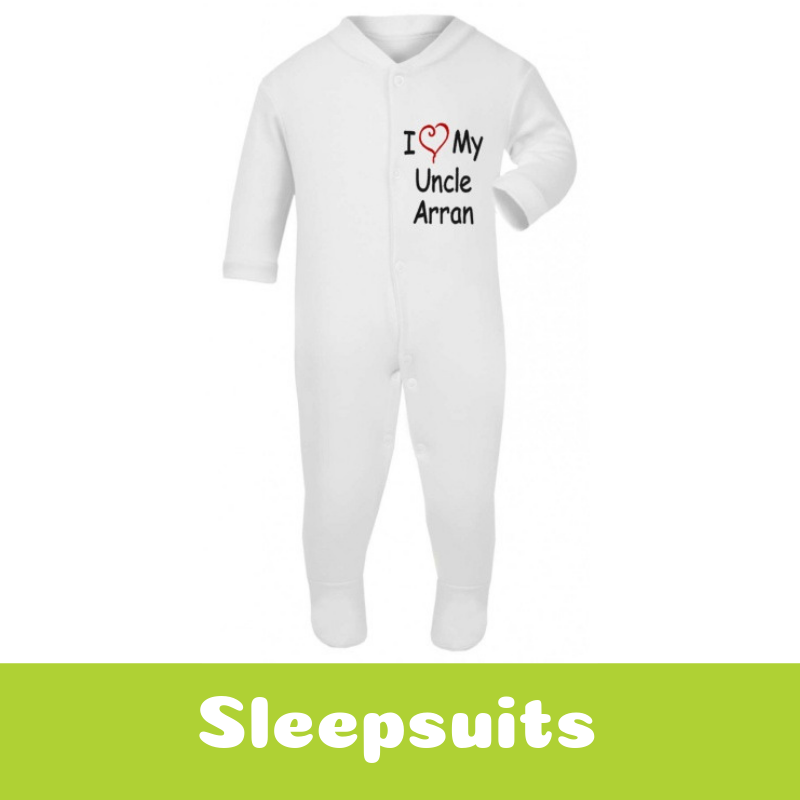 Personalised Newborn Baby Gifts Sleepsuits