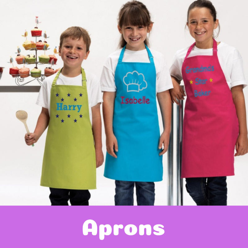 Personalised Embroidered Aprons For Children