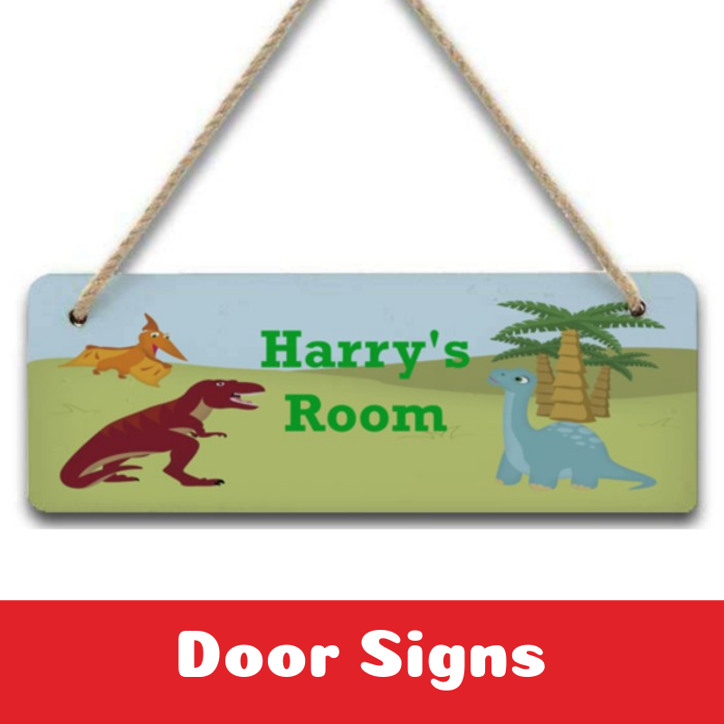 Personalised Door Signs Plaques for Kids