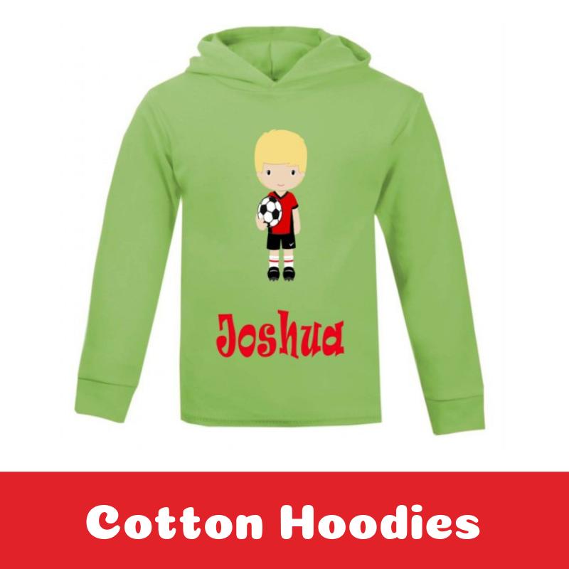Personalised Kids Printed Cotton Hoodies