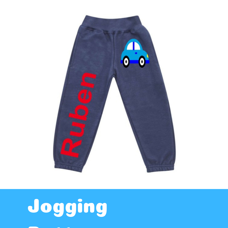 Personalised Printed Kids Joggers / Jogging Bottoms