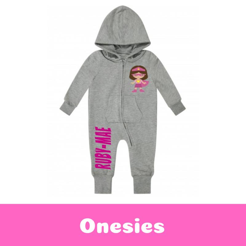 Personalised Printed Children's Onesie & Loungewear