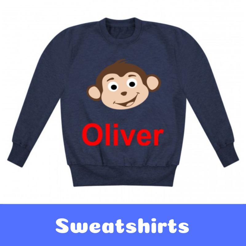 Personalised Children's Printed Sweatshirts
