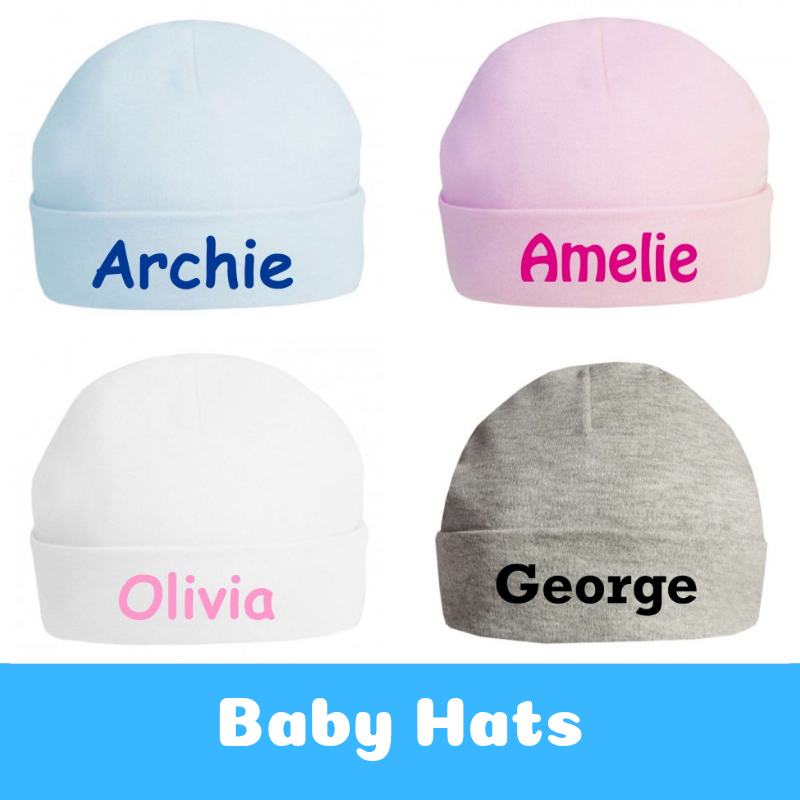 Personalised Newborn Baby Gifts Baby Hats