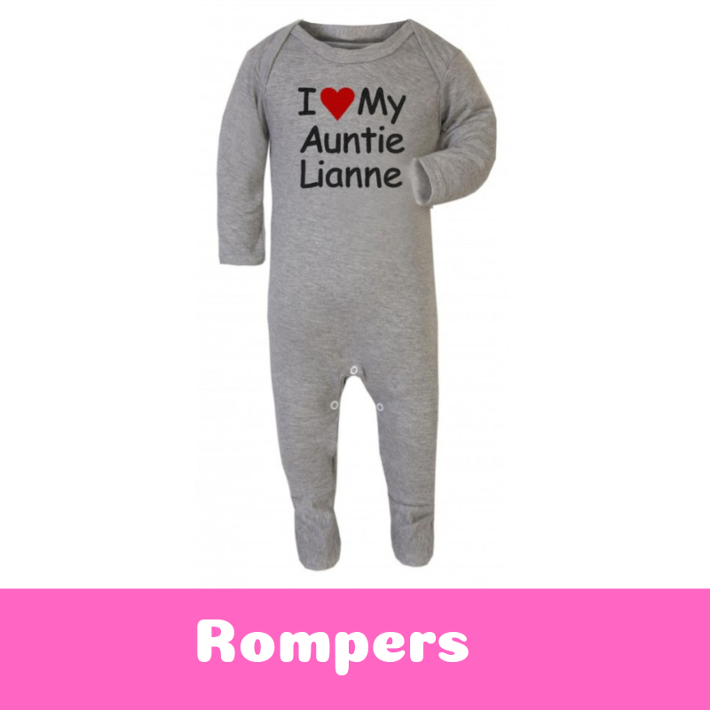 Personalised Newborn Baby Gifts Baby Rompers