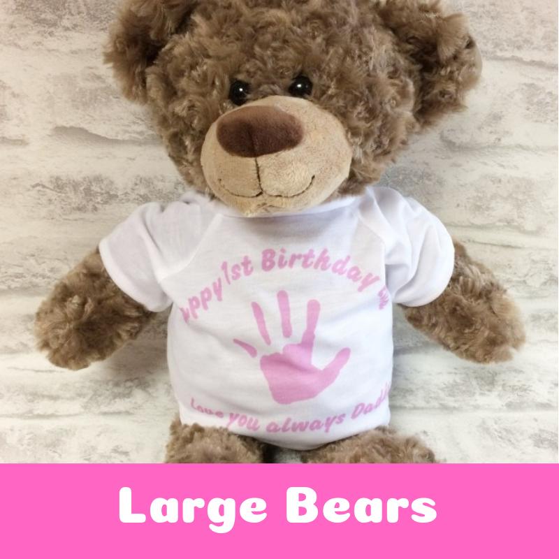 Personalised Printed Large Teddy Bears