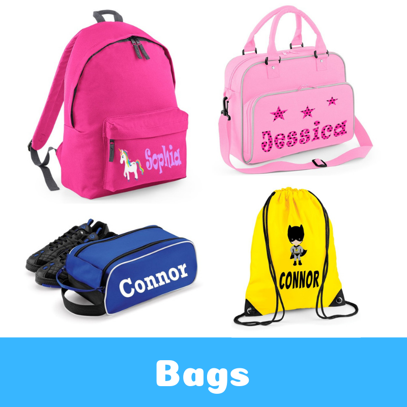 Personalised Childrens Printed Bags Back To School