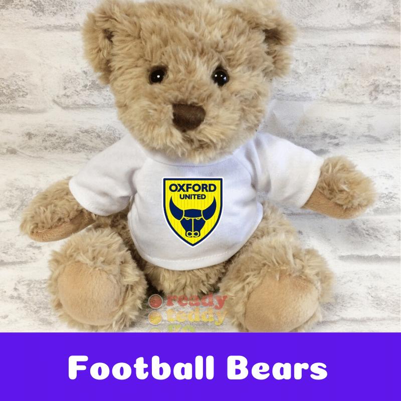 Personalised Football Team Teddy Bears