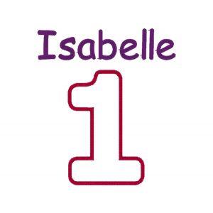 Applique Number (1 to 9) CHOOSE FABRIC + Name Design