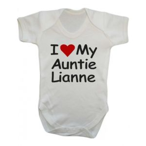 I Heart My Any Text Baby Vest