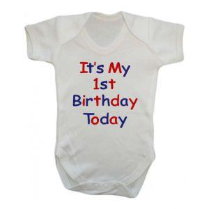 It's My 1st Birthday Today Boy Baby Vest
