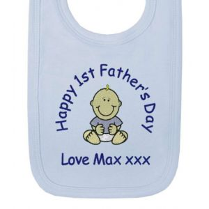 Happy 1st Father's Day Baby Bib