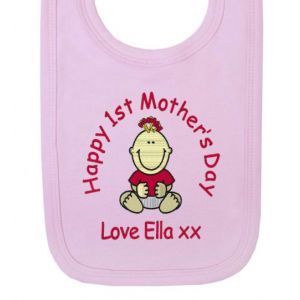 Happy 1st Mother's Day Baby Bib