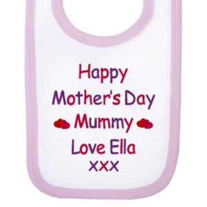 Happy Mother's Day Text Baby Bib