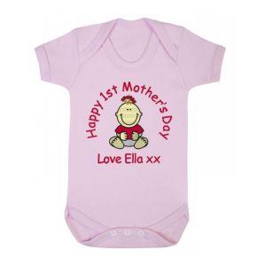 Happy 1st Mother's Day Baby Vest