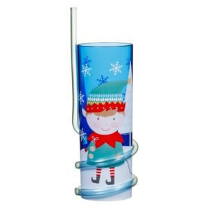 Christmas Boy Elf Tumbler with Straw
