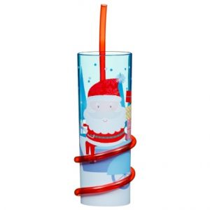 Christmas Santa Claus Tumbler with Straw
