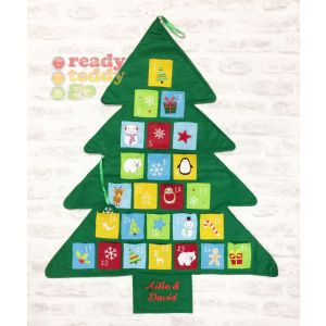 Christmas Tree Advent Calendar with Pockets