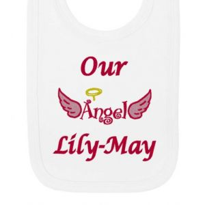 Our Angel Any Name Baby Bib