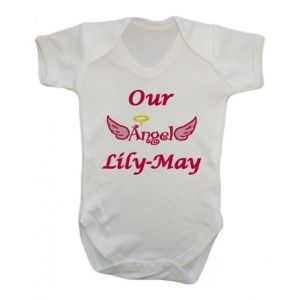 Our Angel Any Name Baby Vest