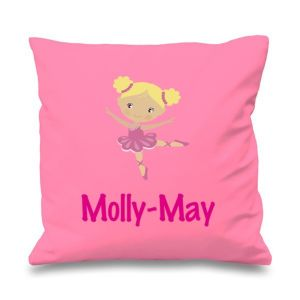 Ballerina Any Name Printed Cushion