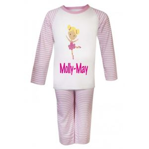 Ballerina Any Name Childrens Pyjamas