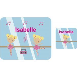Ballet Dancers Hardboard Placemat & Coaster