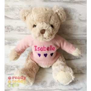 Bartley Teddy Bear with Knitted Jumper