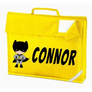 Bat Boy Superhero Any Name Book Bag
