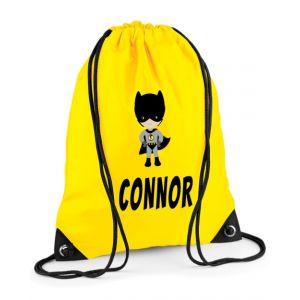 Bat Boy Superhero Any Name Drawstring Bag