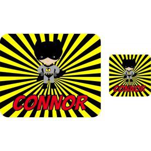 Super Bat Boy Hardboard Placemat & Coaster