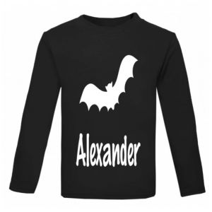 Halloween Bat Silhouette Childrens Glow in Dark T-Shirt