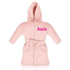 Pale Pink Any Name Children's Bathrobe