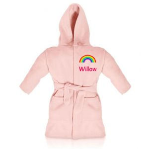Rainbow Any Name Children's Bathrobe