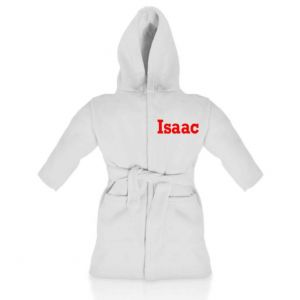 White Any Name Children's Bathrobe
