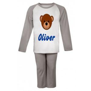 Teddy Bear Face Any Name Childrens Pyjamas