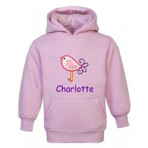 Bird Any Name Childrens Embroidered Hoodie