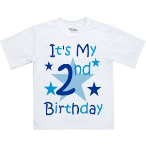 Any Name & Age Boys Birthday T-Shirt (Front & Back)