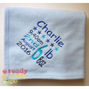 Birth Square Baby Cotton / Fleece Blanket